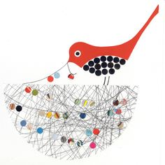 """Scribble Nest....gives me an art idea when focusing on """"feathered friends"""" with my Preschoolers."""