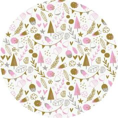 """Camelot Fabrics, Hello, My Deer, Little Treasures White  Fabric is sold by the 1/2 Yard. For example, if you would like to purchase 1 Yard, you would enter 2 in the Qty. box at Checkout. Yardage is cut in one continuous piece.  Examples:  1/2 yard = 1 1 yard = 2 1 1/2 yards = 3 2 yards = 4  1/2 Yard Measures 18"""" x 44/45""""  Fiber Content: 100% Cotton   Hover over image for a larger, better view.  Care Instructions:  To increase the longevity of your fabrics, hand-wash,  or wash on a gentle…"""