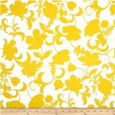 Black and White Gramercy Floral Yellow/White
