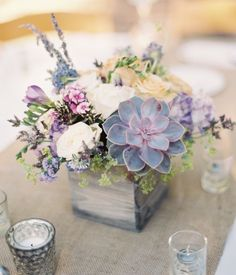 Solemnization tabletop floral arrangement
