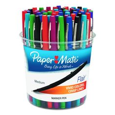 Porous-point stick pen features a point guard that prevents the tip from fraying. Quick-drying water-based ink minimizes the potential for smearing, making this marker pen great for lefties. Marks won