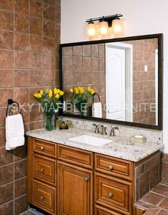 Bianco Romano Granite Countertops | Bianco Romano Granite Vanity Tops  (1078), Bianco Romano
