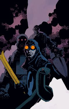 Mike Mignola is a comic book artist and writer who has worked with both DC and Marvel. He is best known for his creation of Hellboy published by Dark Horse Comics.