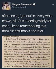 White people can- and should- enjoy Get Out, but remember to think about it, and check your privilege.<<< Or we could just shut the fuck up and just watch the movie and not think about politics or society right after. Angst Quotes, Intersectional Feminism, The More You Know, Faith In Humanity, The Victim, The Villain, Social Justice, Thought Provoking, Wells