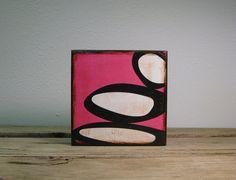 Mid Century Modern Atomic Block Art PaintingPink and by MatchBlox, $29.00