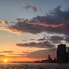 Gawjuss sunset over the harbor earlier this week.