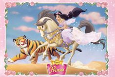 Jasmine with Rajah and a horse
