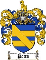 POTTS (North Northumberland) - COA pinned only to list surname