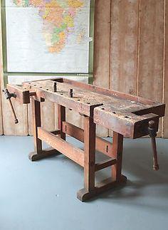 Vintage industrial carpenters work bench LNDN