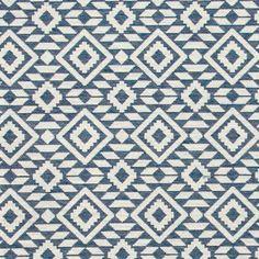 Jacquard blå/offwhite tapetsmønster