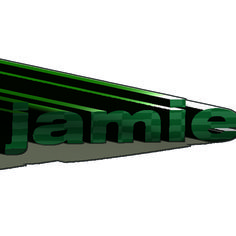 I used the 3D effect to make my name pop out and look 3D.
