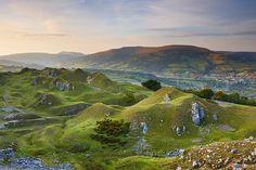 llangattock escarpment, the welsh valleys