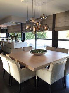 Type lamp is leuk boven de eettafel, nu nog leuke uitvoering :) Interiors DMF Grenoble dining & Lights by Eve