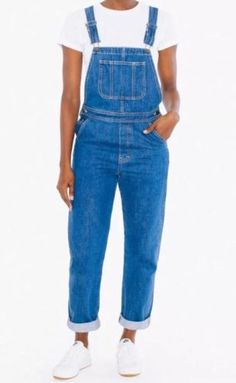 American Apparel Women's Femme Overalls Medium Wash Denim Jean Size Medium in Clothing, Shoes & Accessories, Women's Clothing, Jumpsuits & Rompers   eBay