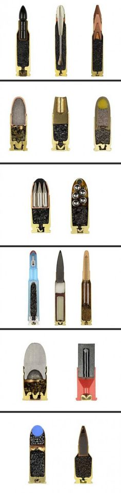 Cross section of different rounds.