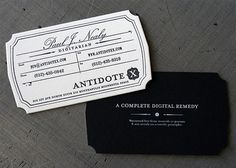 Love these business cards   |  via Business Card Design Ideas on Flickr