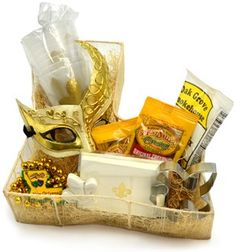 Pirogue gift basket or centerpiece; hot sauce, crawfish and more ...