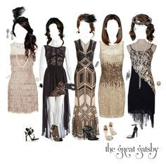 """""""""""The Great Gatsby"""" Party Dresses"""" by liv4marvel94 ❤ liked on Polyvore"""