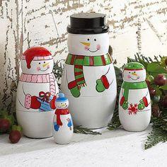 Christmas Nesting Dolls $14.99