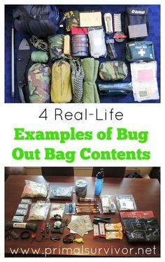 The contents of your bug out bag are one of the most important things for disaster preparedness. To give you an idea of how different bug out bags can be. Check out 4 examples of bug out bag contents Emergency Bag, Emergency Preparedness Kit, Survival Prepping, Survival Gear, Survival Skills, Survival Hacks, Family Emergency, Survival Shelter, Survival Equipment