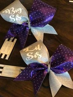 A personal favorite from my Etsy shop https://www.etsy.com/listing/488487060/lil-sis-big-sis-cheer-bow-set-of-2