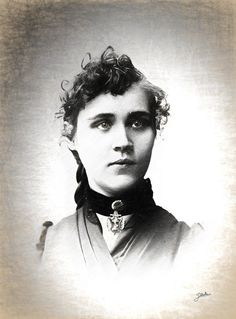 Voltairine Of Cleyre Print featuring the drawing Voltairine De Cleyre by Joaquin Abella
