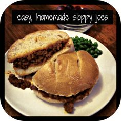 Easy, Homemade Sloppy Joes - these are really good!