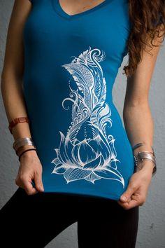 Henna inspired designs tshirt by NaturalHennaArt on Etsy, $25.00
