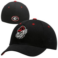 finest selection 564c1 2bbdd Top of the World Georgia Bulldogs Youth The Rookie 1Fit Hat - Black