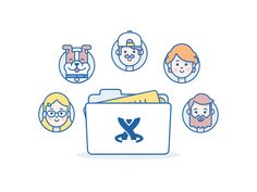 Team Collaboration - Illustration by Andrew McKay for Atlassian