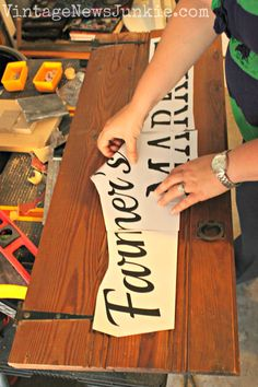 How to Make a Farmers Market Sign out of an Old Door