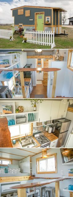 A 20' tiny house with a 48 sq.ft. draw bridge back deck and a 20 sq.ft. entry deck. The steel frame and metal roof help reduce the weight of the Homestead.