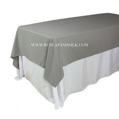 60 X 102 Inches Rectangular Gray Tablecloth