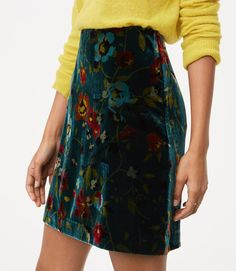 $59.50 We love the flowers on this velvet skirt