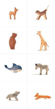 Painted wooden toys are pretty darn cute, too. I wouldn't mind these all over the living room. #baby #babytoys