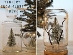 wintery snow globe. i so want to try this!! { Rebecca Beach is a genius - http://www.adailysomething.com/ }