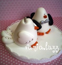 Topo de bolo passarinhos | par Sonho Doce Biscuit *Vania.Luzz*