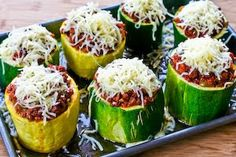 Kalyn's Kitchen: Recipe for Meat, Tomato, and Mozzarella Stuffed Zucchini Cups