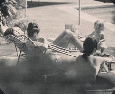 Elvis, Priscilla and Lisa photographed outside their Hillcrest home, Elvis Presley Priscilla, Elvis Presley Family, Elvis Presley Photos, Lisa Marie Presley, Elvis In Concert, Earth 2, Photos Tumblr, Daddys Girl, You Look Like