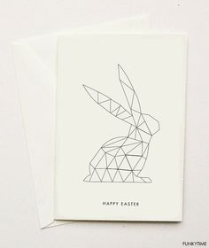 Geometric Easter Greeting Card | Funkytime