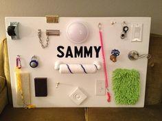 Love this! Sensory board.