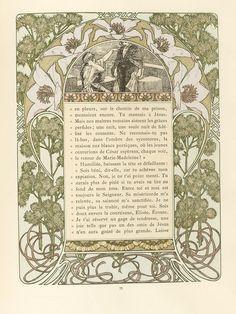 Cloches de Noël et de Pâques, by Émile Gebhart. (1839-1908). Illustrated by Alphonse Mucha.1860-1939). H. Piazza et Cie. L'Édition d'Art, 4 rue Jacob, Paris.1922.