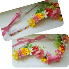 Beautiful Flower Crown with Bow Detail  #handcrafted #handmade #flowercrown #headwear #headpiece #daises #creative #craft