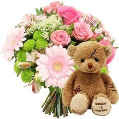 france Flowers - Dolce Vita and teddy bear  €60.50