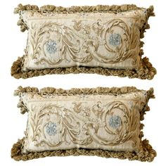 French Scroll Aubusson Pillow | From a unique collection of antique and modern pillows and throws at http://www.1stdibs.com/furniture/more-furniture-collectibles/pillows-throws/
