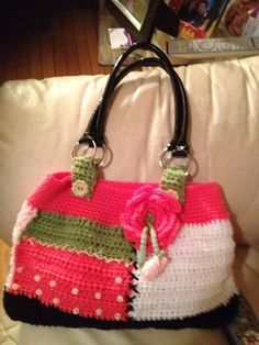 hand made crochet hand bag by Elsie