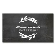 265 best business cards for networking personal use images on olive branch wreath logo on chalkboard business card template for etsy sellers crafters reheart Images