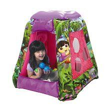 Dora the Explorer Inflatable Ball Playard by Moose Mountain Marketing Inc. $34.99. Come join Dora in her Explore with this Dora the Explorer Inflatable Ball Playland! This adorable play environment features 20 soft-flex balls, a color matching side panel and peek-through windows. Explore with Dora as she discovers tree frogs, snails, ladybugs and a butterfly. Great for indoor or outdoor play.