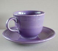 Vintage Purple Fiestaware Cup and Saucer