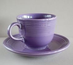 Vintage Purple Fiestaware Cup and Saucer